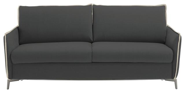 Iris Modern Sofa Bed Queen Size Mattress Contemporary Sleeper