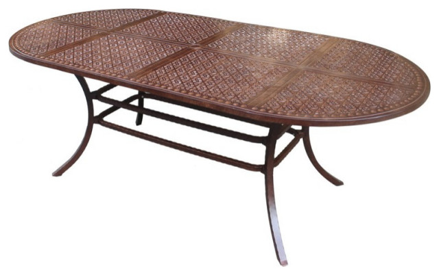 Newport 42 X84 Oval Dining Table, Oval Outdoor Dining Table