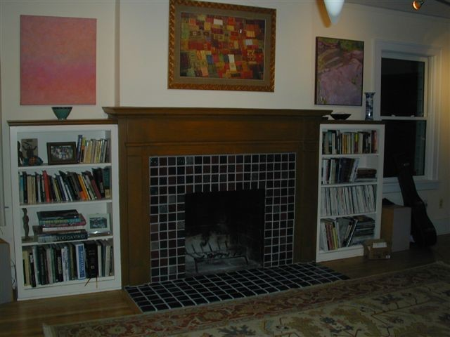 Pewabic tile fireplace - Detroit - by Steward Creations Inc.
