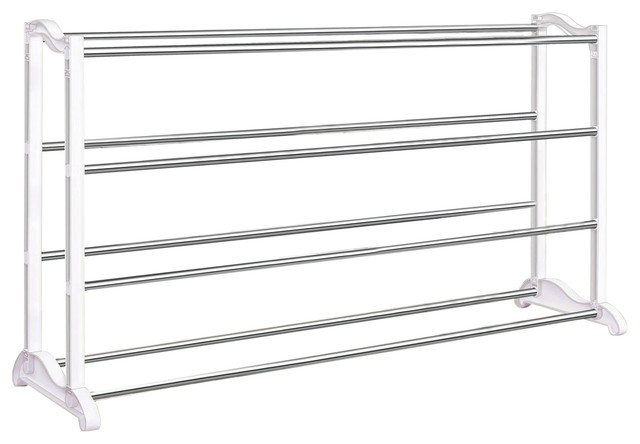 4-Tier Shoe Rack, Holds Up To 20 Pair Of Shoes.