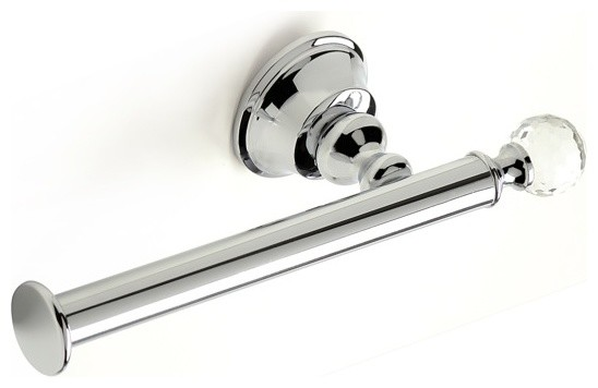 Br Toilet Roll Holder With Crystal Chrome