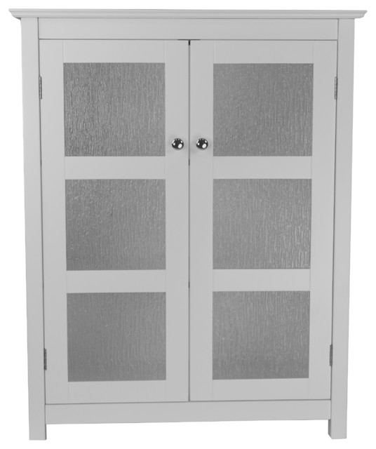 Connor Floor Cabinet With 2 Glass Doors.