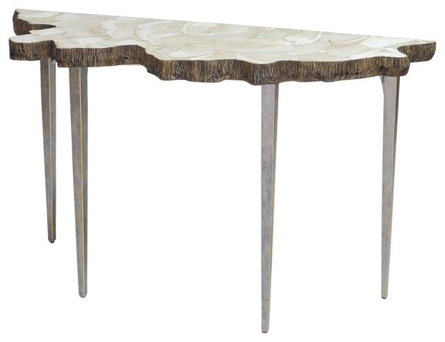 Stupendous Palecek Chloe Fossil Clam Console Table Spiritservingveterans Wood Chair Design Ideas Spiritservingveteransorg