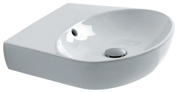 H10 50 Wall Mounted / Vessel Bathroom Sink, Oval.