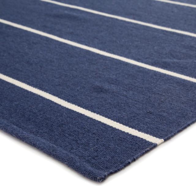 Jaipur Living Corbina Indoor/Outdoor Stripes Dark Blue/Ivory Area Rug, 2'x3'