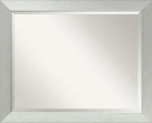 Bathroom Mirror Lg Fits Standard 30 36 Cabinet Brushed Silver 32