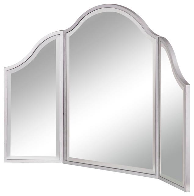 Dressing Mirror 37x24 Silver Paint By Elegant.