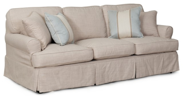 Whitman Sofa With Slip Cover, Linen.