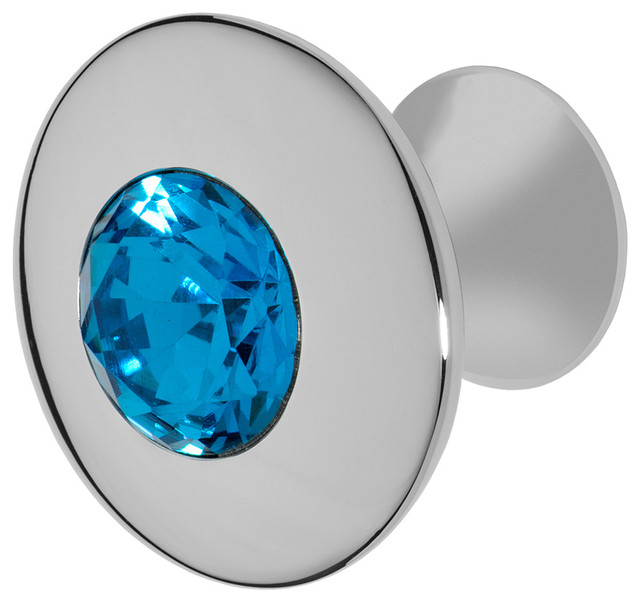 Felicia Polished Chrome Knob - Contemporary - Cabinet And Drawer ...