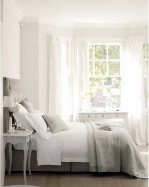 Will mahogany furniture ruin the airy feeling in my light grey bedroom
