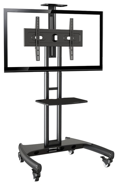Mobile Tv Stand Rolling Cart With Universal Mount For Tv 32-65.
