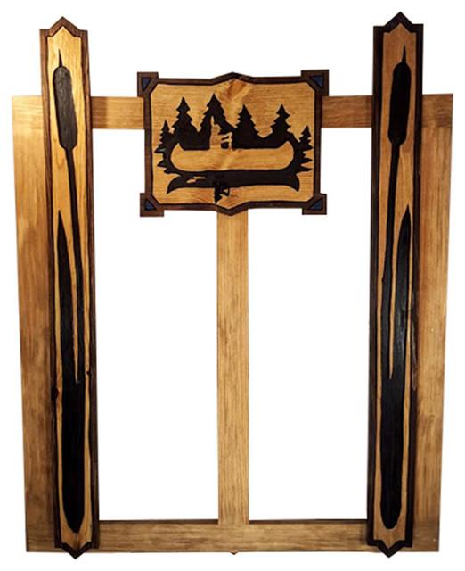 Screen door kit hand carved wood silhouette arrow and