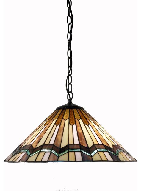 Tiffany Style Arrow Head Hanging Lamp.