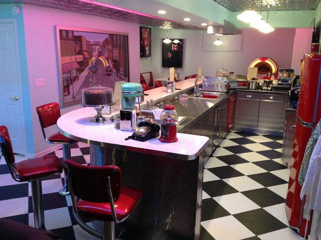 Room Of The Day A 1950s Diner And Drive In Theater At Home