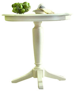 American Drew Camden Bar Height Pedestal Table, White