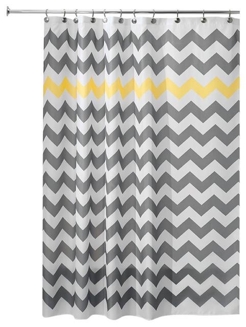 Interdesign Chevron Shower Curtain And Shower Curtain Liner