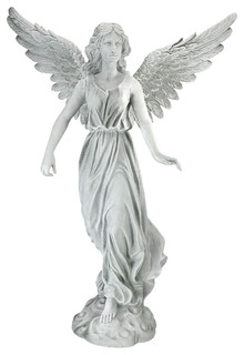 Medium Angel Of Patience Statue   Victorian   Garden Statues And Yard Art    By Design Toscano