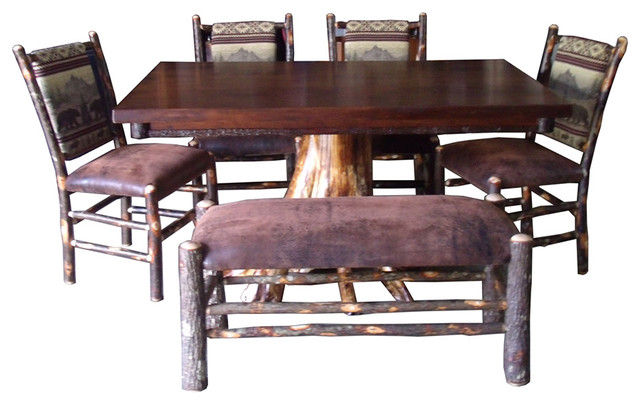 Shop Houzz Furniture Barn USA Rustic Maple And White Cedar Stump Dining Tab