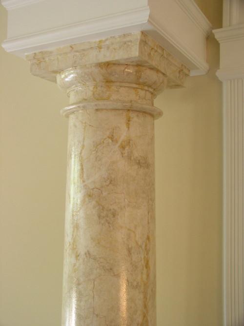 round pillar decoration. Tiles For Round Pillars Tile Design Ideas