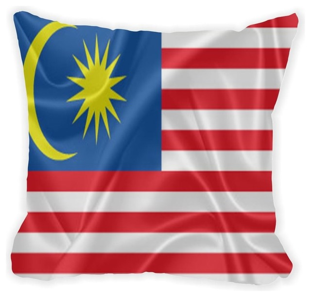 Malaysia Flag Microfiber Throw Pillow