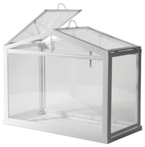 Greenhouse, Indoor/outdoor, White Steel, Polyester.