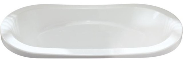 72x36 Revelation Drop-In Acrylic Oval Bathtub.