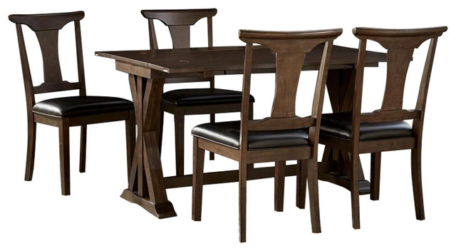 A America Brooklyn Heights 5 Piece Flip Top Dining Room Set With T