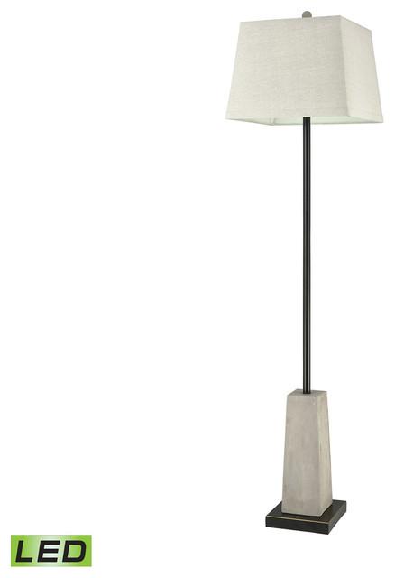 Concrete Blond 1-Light Floor Lamp, Natural Concrete.