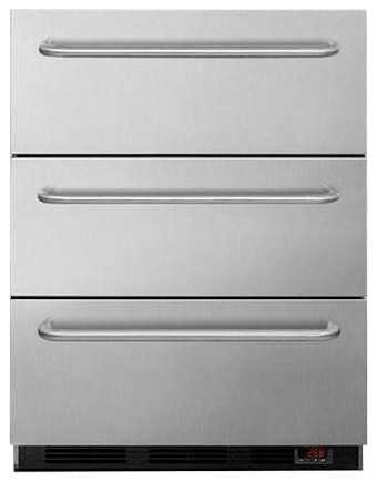 Medical Three Drawer Manual Defrost Under Counter Drawer Freezer.