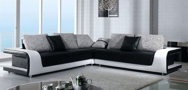 Sophisticated Italian Top Grain Leather Sectional Sofa contemporary sectional sofas miami