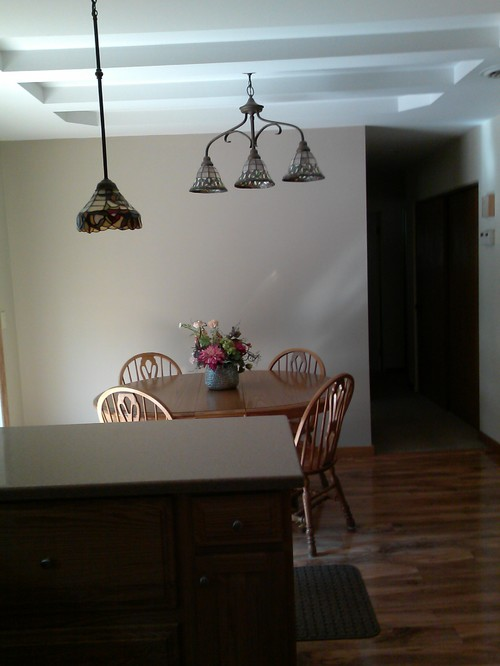 Off Centered Ceilings Light Fixture
