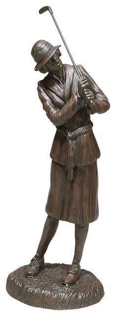 Lady Golfer Sculpture