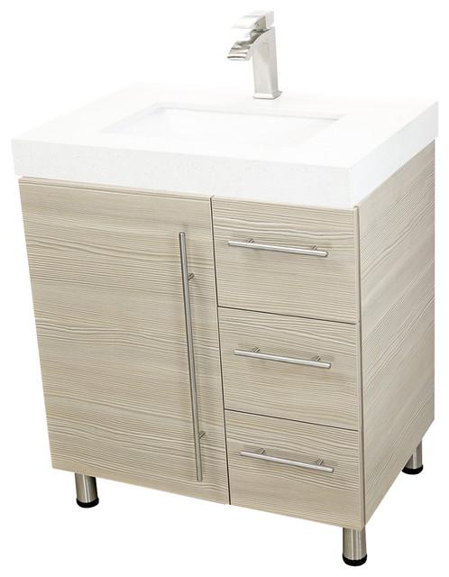 """Windbay 30"""" Free Standing Bathroom Vanities Sink Ebony"""