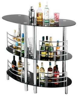 Servierwagen Modern three tier curved bar table modern servierwagen wayfair