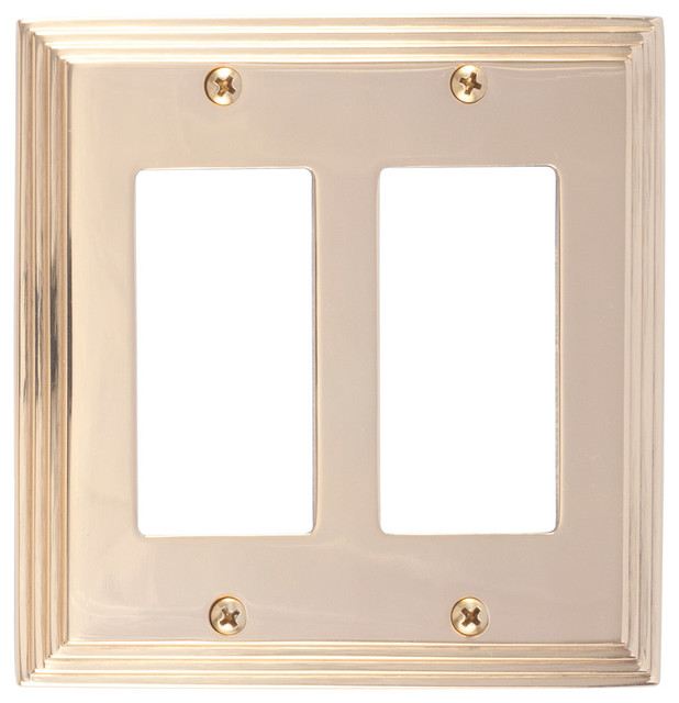 Vanity Light Gfci : Shop Houzz BRASS Accents, Inc. Classic Steps Double GFCI - Switch Plates And Outlet Covers