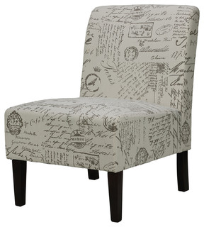 Chicco Script Armless Accent Chair