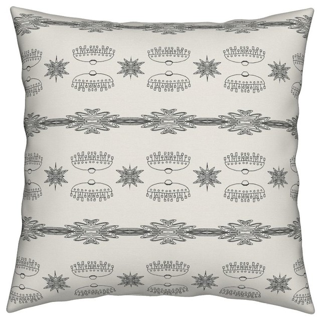 Oz Aliens For Coloring In White Hand Drawn Throw Pillow ...