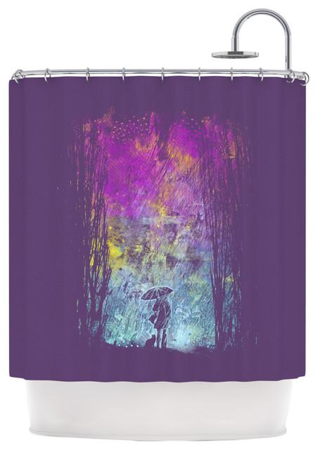 Frederic Levy Hadida Purple Rain Shower Curtain