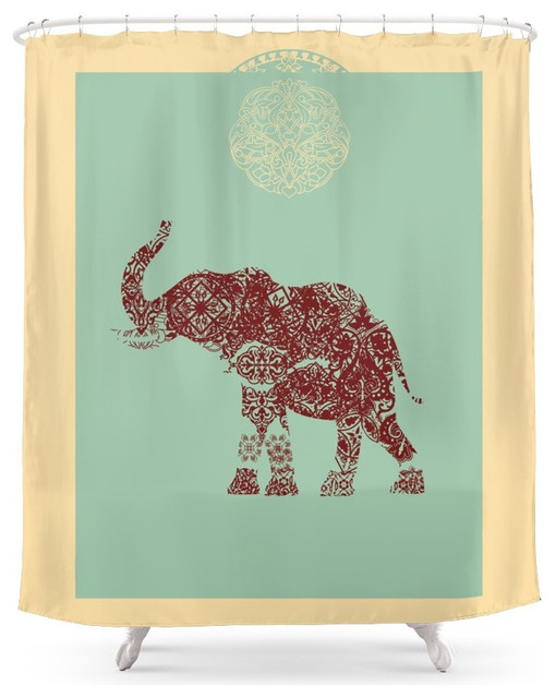 society6 elephant shower curtain contemporary shower. Black Bedroom Furniture Sets. Home Design Ideas