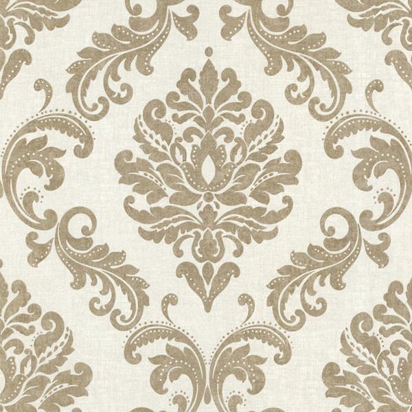 Sebastion gold damask wallpaper traditional wallpaper for Wallpaper traditional home