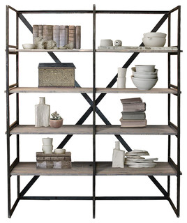 Wood and Metal Book Case, Home Decor and Bookshelf