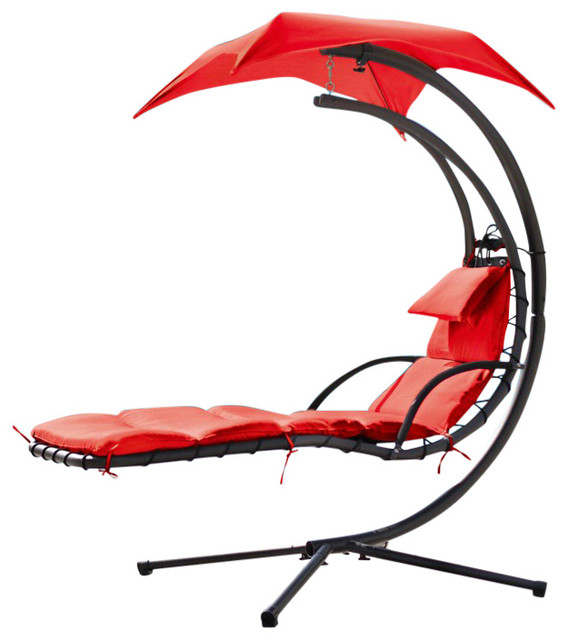 Renava Bahama Outdoor Gray Hanging Lounge Chair, Red
