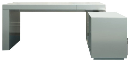 Modrest Soul - Modern Office Desk with Attached Cabinet