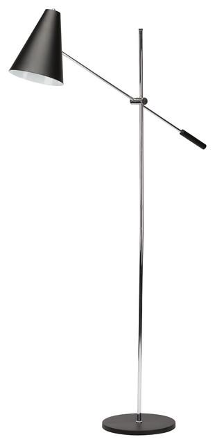 Tivat 1-Light Floor Lamp, Matte Black.
