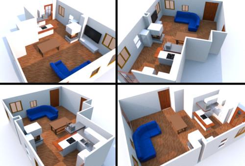Disposizione soggiorno e cucina in open space for Open space cucina e soggiorno