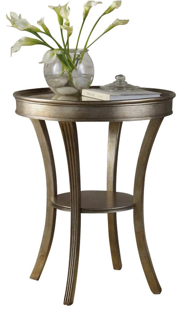 Hooker Furniture Sanctuary Round Mirrored Accent Table Transitional Side  Tables And End