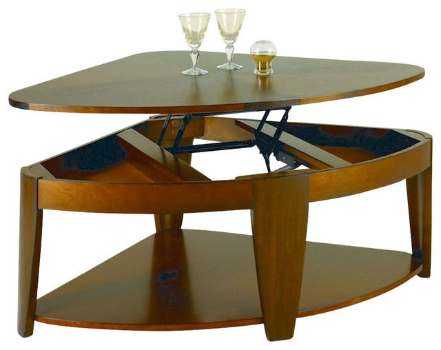 Hammary Oasis Wedge Lift Top Cocktail Table Traditional Coffee Tables