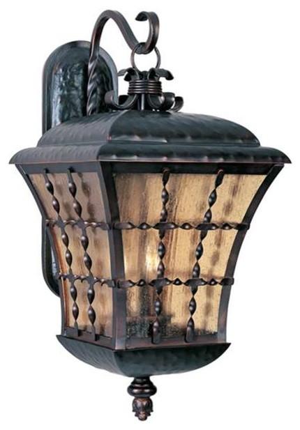 Maxim Orleans 3-Light Outdoor Wall Lantern Rubbed Bronze - 30496asoi.