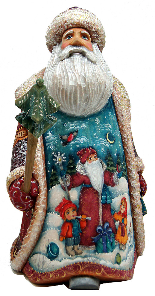 Santa Woodcarved Figurine Traditional Holiday Accents And Figurines By G Debrekht