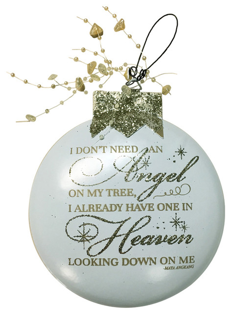 ornament angel cream angel already in heaven looking down on me - Modern Christmas Ornaments
